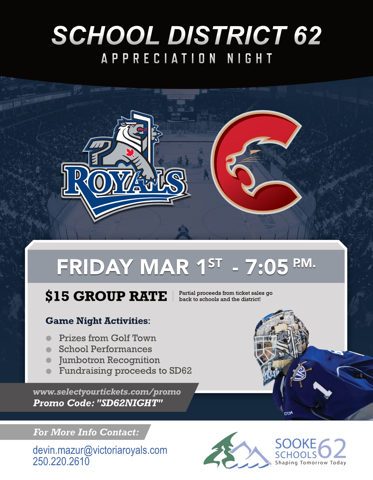 District Day with the Victoria Royals – March 1